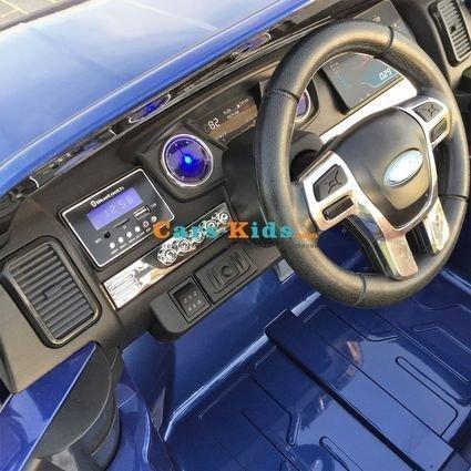 Электромобиль Ford Ranger F650 4WD (2х местный, сенсорный дисплей с видео, колеса резина, сиденье кожа, пульт, музыка)