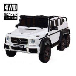 Электромобиль Mercedes-Benz G63-AMG 4WD ABL1801 белый (двухместный, привод на 4 колеса, музыка, пульт управления)