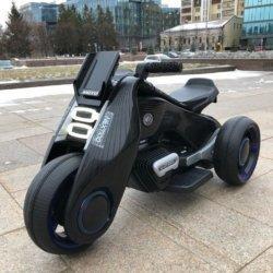 Электромотоцикл  BMW Vision Next 100 (трицикл) - BQD-6288 черный (широкие колеса, музыка, свет фар)