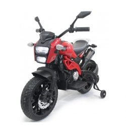 Детский электромотоцикл Harley Davidson - DLS01 красный (колеса резина, ручка газа, музыка, свет)